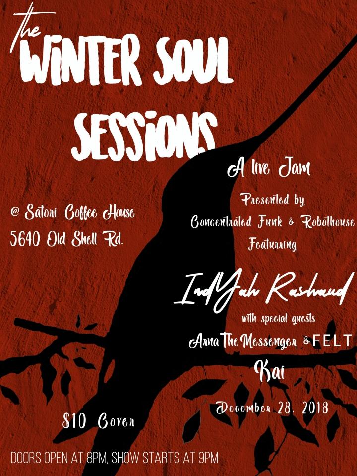 Event: The Winter Soul Sessions Live Jam. Satori's CoffeeHouse in Mobile, AL.